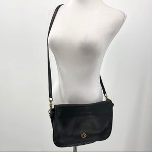 Vintage Coach Leather Crossbody Clutch Bag